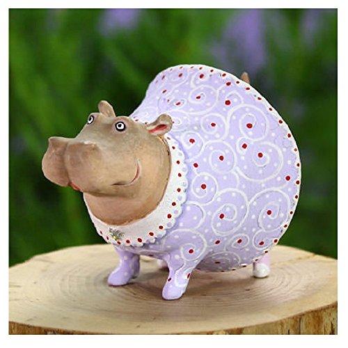 Patience Brewster Home Decor Mini Helen Hippo Ornament 31005 (Ornament Hippo)