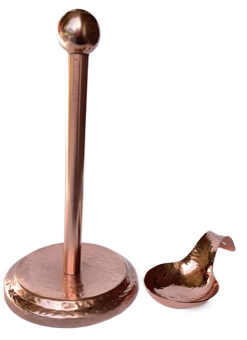 Hammered Copper Spoon Rest and Paper Towel Holder by Tapps Home Décor Line