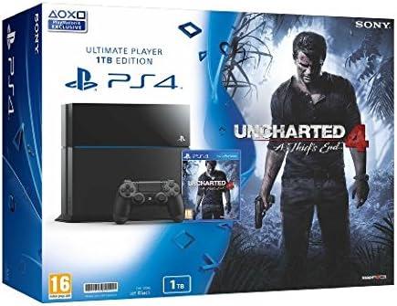 Playstation 4 PS4 1TB + UNCHARTED 4 - Consola PS4 de 1 TB [Importación]: Amazon.es: Videojuegos