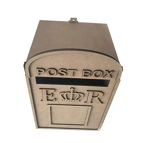 Amosfun - Caja de madera para tarjetas de felicitación de boda con marco de fotos, suministros de boda para fiesta de aniversario con cerradura: Amazon.es: Grandes electrodomésticos