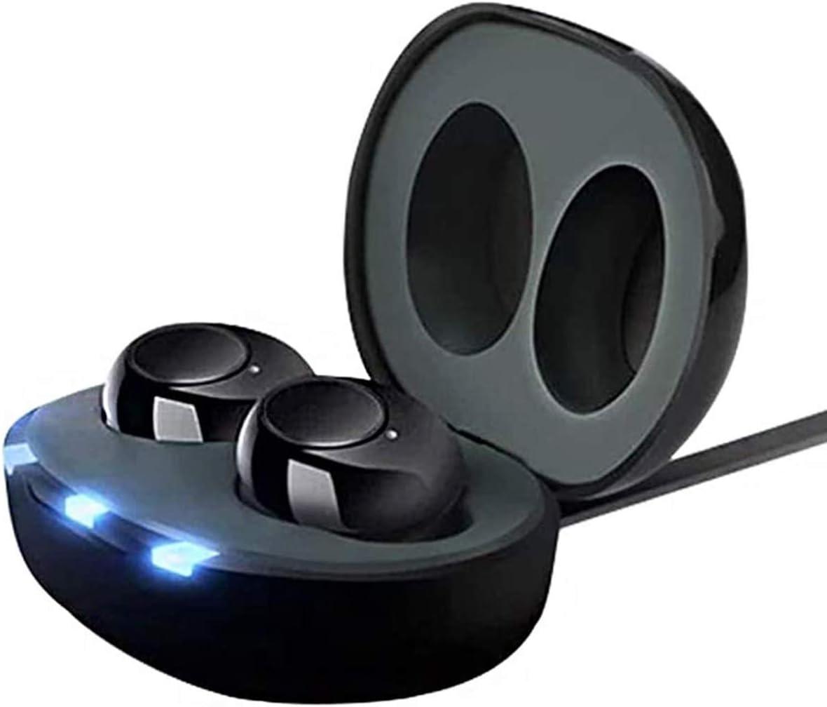 FPTB Mini CIC Amplificador De Audición Digital Mejora del Oído Interno Sonido Personal Amplificador De Voz con Cancelación De Ruido Control De Volumen De Un Toque Caja De Carga Recargable USB(1 Par)