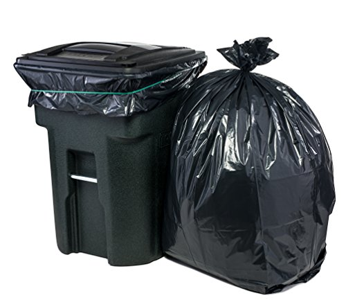 Price comparison product image Plasticplace 95 Gal Trash bags, Black, 2 Mil, 61x68, 25 Bags per Case
