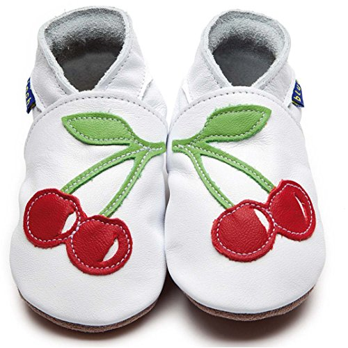 Inch Blue , Chaussures souples pour bébé (fille) Multicolore Blanc/rouge Child Extra Large