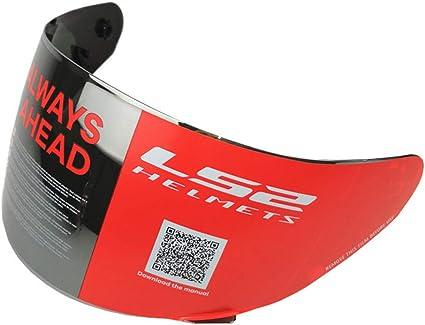 Visera de cristal para casco de motocicleta para LS2 FF352 FF369 FF351 FF384 Color Smoke