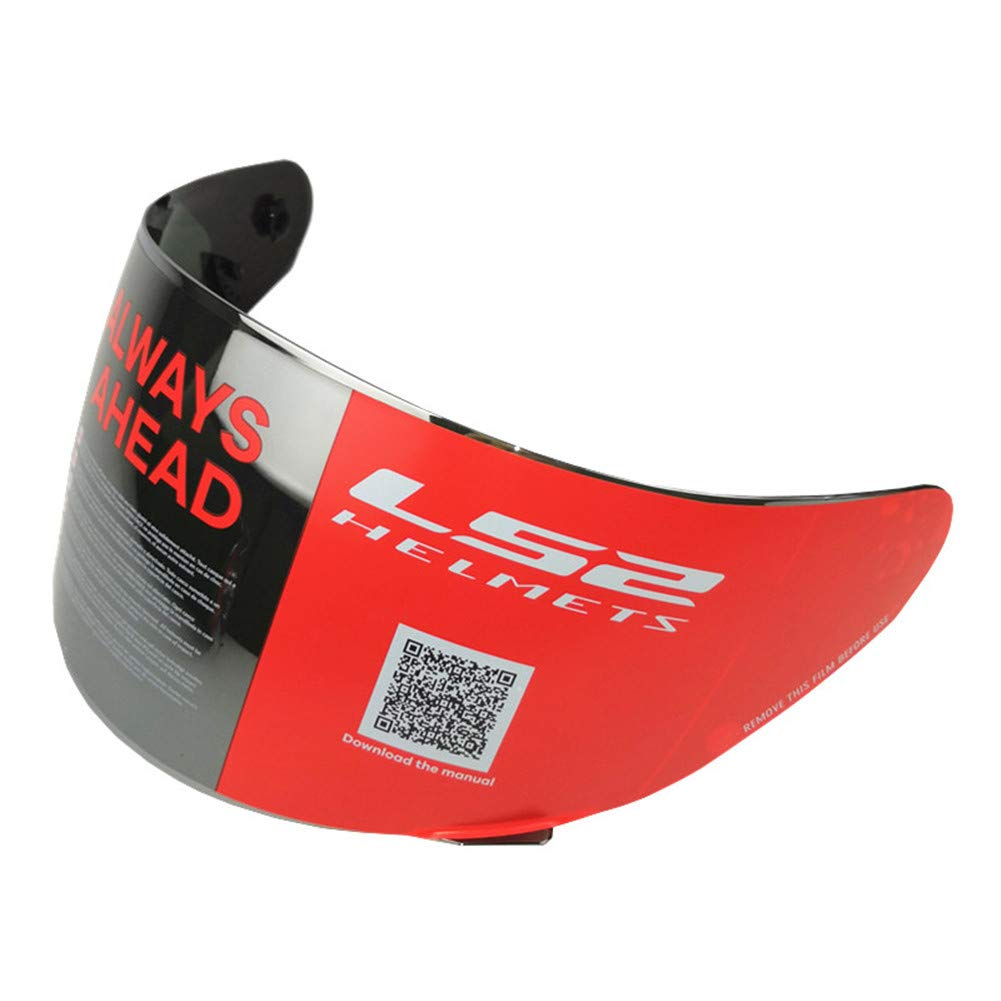 LS2 FF352 FF351 FF384 Helmet Visor Full Face Motorcycle Helmet Replacement Face Shield Lens Chrome Silver