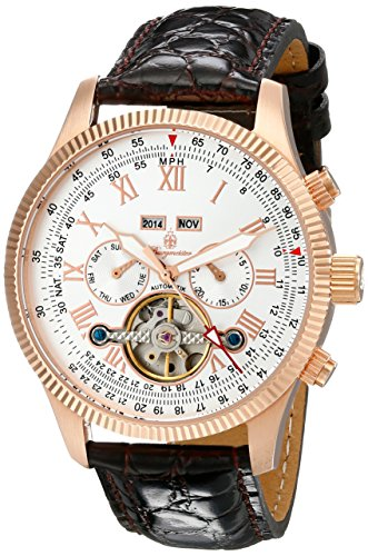 Burgmeister Men's BM330-315 Analog Display Automatic Self Wind Brown Watch