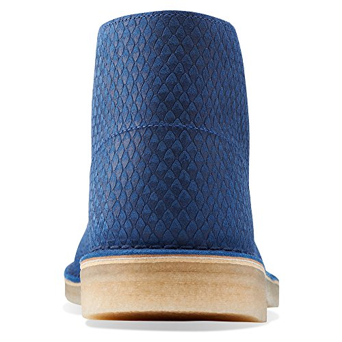 Clarks Originelen Heren Desert Boot Blue Snake Leather