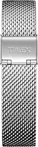 Timex Women's TW7C07800 IQ+ Move 18mm Silver-Tone Stainless Steel Mesh Bracelet (Watch Tone Mesh Silver)