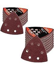 Amazon Brand - Umi schuurvellen schuurpapier, schuurpapier, muisschuurpapier voor meerdere schuurmachines, 93x93 mm, 40/60/80/120/180 grits