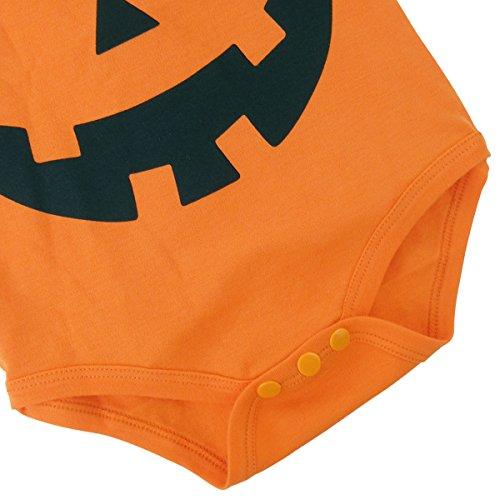 A&J Design Baby Halloween Pumpkin Bodysuits (12-18 Months)