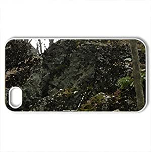 Backyard - Case Cover for iPhone 4 and 4s (Watercolor style, White)