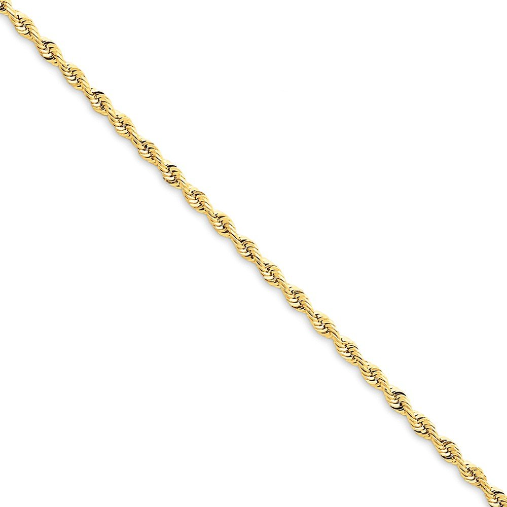 Top 10 Jewelry Gift 14k 2.25mm D/C Quadruple Rope Chain