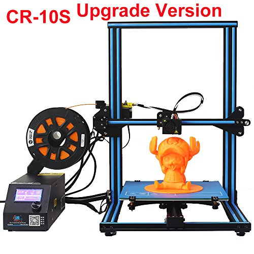 CCTREE Creality CR-10 10S DIY Desktop 3D Printer Kit Large Printing Size 300x300x400mm 1.75mm 0.4mm Nozzle With Filament Detector and the Dual Z Axis by Creality 3D