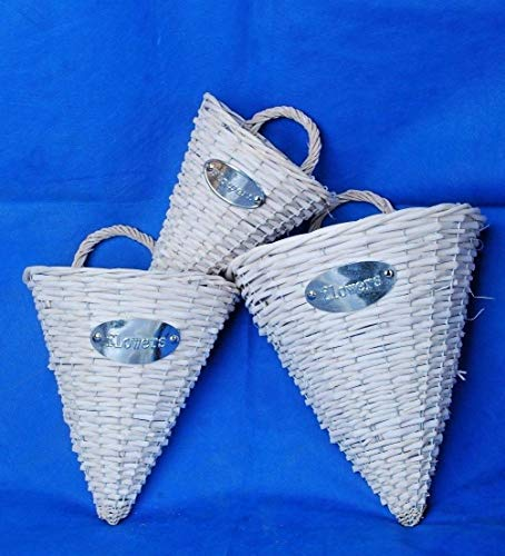 FidgetGear Beautiful Wall Hanging Basket Wicker Garden Planter Flower Basket Smallest Size Size