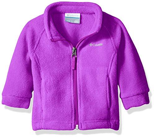Columbia Baby Girls' Benton Springs Fleece Jacket, Bright Plum, 3-6 Months