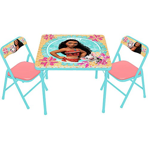 Disney Moana Kids Activity Table and Chairs Set