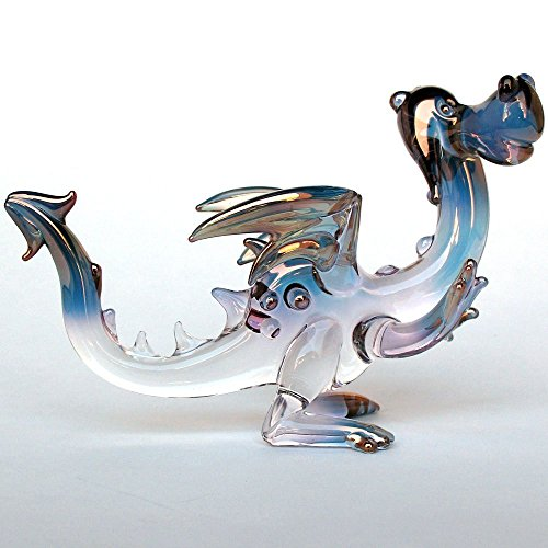 Friendly Dragon Figurine of Hand Blown Glass