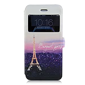 iPhone 6 Plus Case Colorful Painted Purple Eiffel Tower Case for iPhone 6 (4.7) (2014)