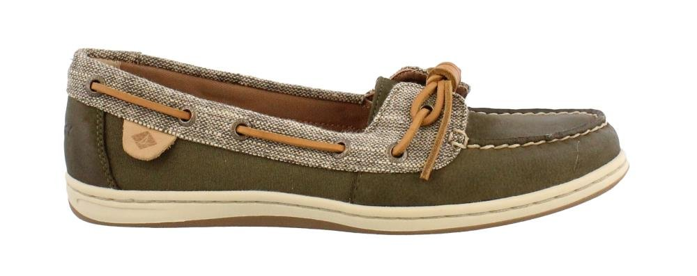 Sperry Women's, Barrelfish Boat Shoes Dark Olive 8.5 M