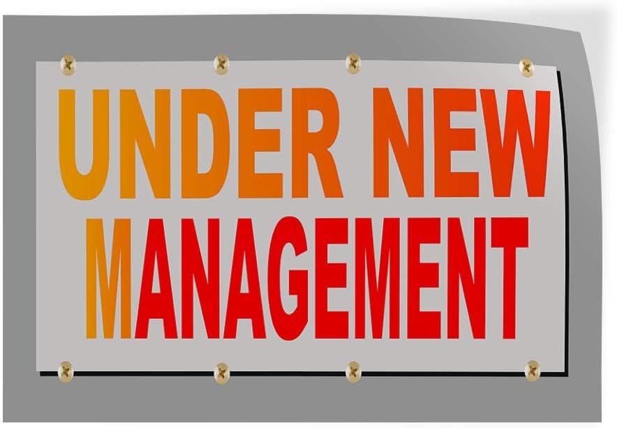 Decal Sticker Multiple Sizes Under New Management Business Business Under New Management Outdoor Store Sign Orange 30inx20in Set of 5