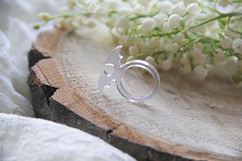 uperhero ring, batman jewelry, clear resin ring, batman present, comics ring, marvel jewelry, unique jewelry, resin ()