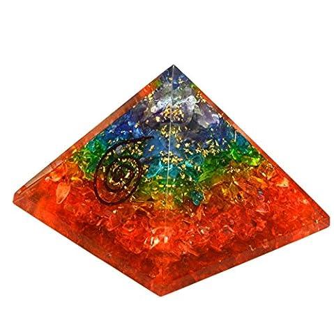 Shivansh Creations Chakra Orgone Pyramid Energy Balancing Generator 3.50