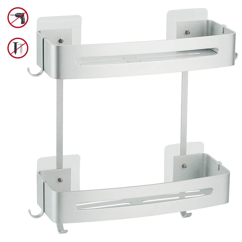 Hodzeed Sin Necesidad de Taladrar Estante Ducha, Estantes de Baño de Aluminio Espacial Perforado Entramado de Baño Muebles de Baño product image