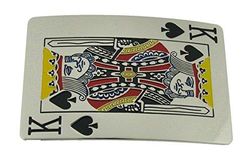 [King of Spade Poker Game Las Vegas Belt Buckle (Brand New)] (Spade Buckle)