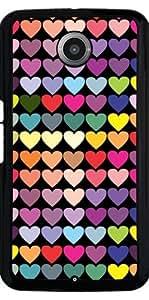 Funda para Motorola Nexus 6 - Corazones Multicolores by les caprices de filles