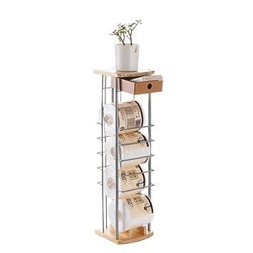 Fesselnd WYMNAME Frei Stehende Toilettenpapierhalter,Stock Gewebe Halter Toilette  Eisen Wc Papierhalter Regal Blume