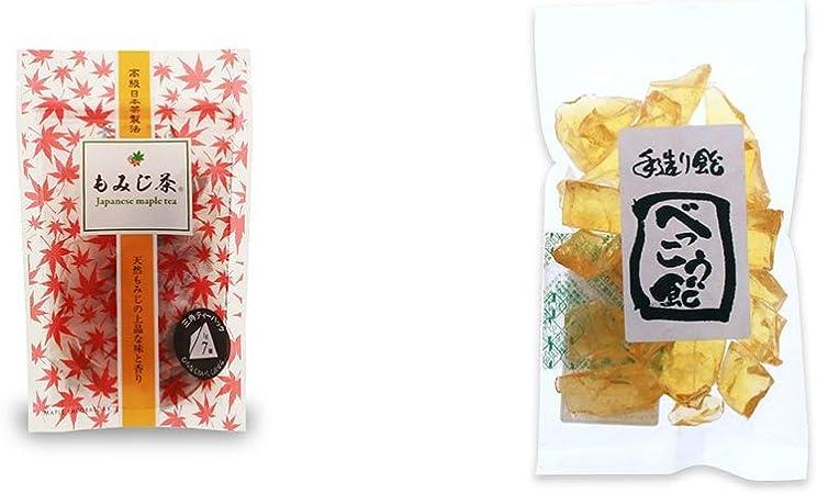 [2点セット] もみじ茶(7パック入)・べっこう飴(160g)