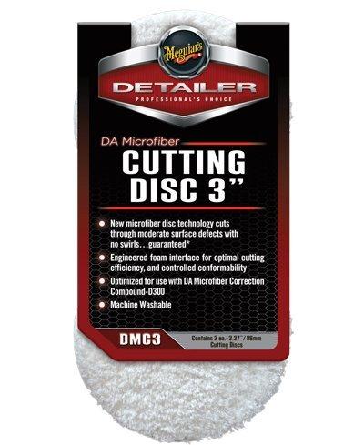Meguiars 3' DA Microfibre Cutting Pads Dual Action Polisher, MT320, G220, DAS6