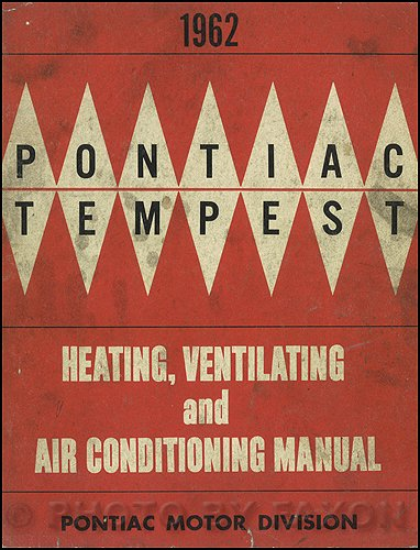 1962 Pontiac Heating, Ventilation, & Air Conditioning Repair Shop Manual Original