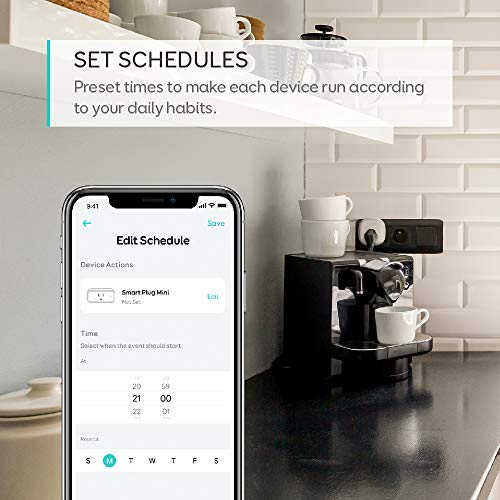 [Energy Monitoring] eufy Smart Plug by Anker, No Hub Required, Works With Amazon Alexa and the Google Assistant, Wi-Fi Enabled, White, Set Schedules, Countdown Timer, Control Remotely, Away Mode by eufy (Image #4)