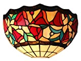 Amora Lighting AM1096WL12 Tiffany Style One Light Floral Wall Sconce Lamp - 12-Inch