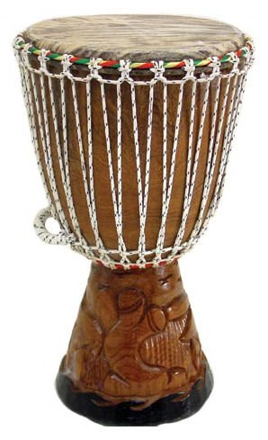 23'' Full Size Professional Quality Authentic African Djembe Drum From Senegal - Traditional African Musical Instrument