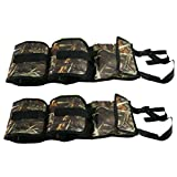 Seat Back Gun Sling Rack for Car Truck with Holding 2 Guns Pocket for Hunting and Shooting Camo
