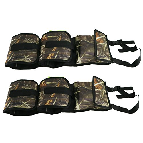 Lusmi Seat Back Gun Sling Rack for Car Truck with Holding 2 Guns Pocket for Hunting and Shooting Camo