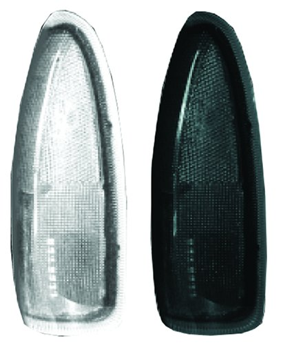 Recon 264120BK LED Side Mirror Lens 2003-2007 Ford F250/F350 Super Duty & Excursion (2 Piece Set) - Smoked (2 Smoked Lens Set)