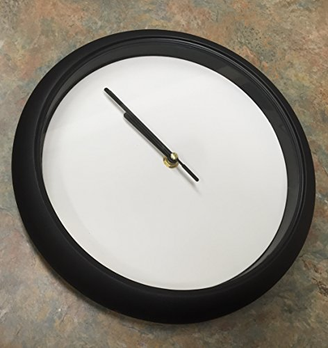 Black & White Wall Clock with a Blank Face Decorative Modern ()
