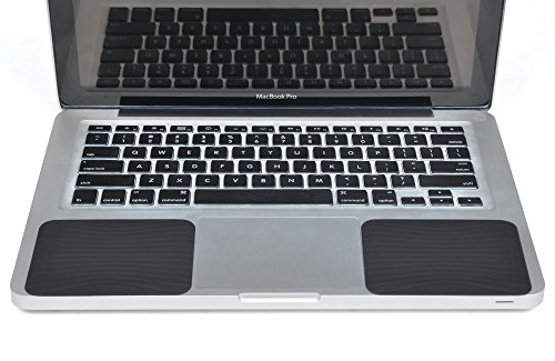Cosmos Silicone Palm Wrist Rest Pads Set for Apple Macbook Pro/Air Laptop Computer (Black)