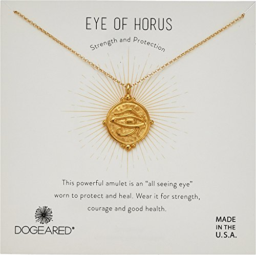 Dogeared Women's Eye of Horus Coin Necklace Gold One Size 0.1 Ounce Gold Coin