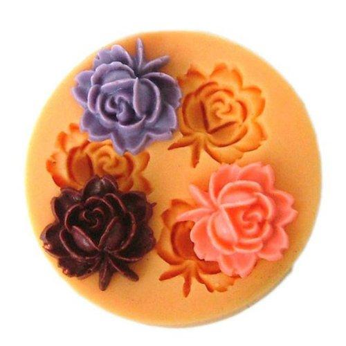 hot sale 2017 F0033 Silicon Resin Flower Cake Mould Soap Candy Jelly Chocolate Mould