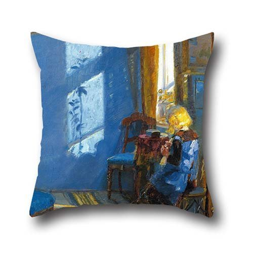 20 X 20 Inches / 50 By 50 Cm Oil Painting Anna Ancher - Sunlight In The Blue Room Pillow Covers ,each Side Ornament And Gift To Club,chair,kids,christmas,living Room,bedding