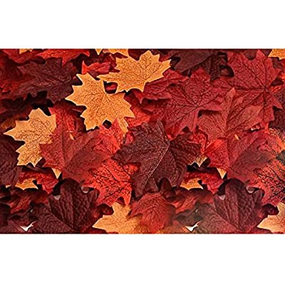 120pcs Artificial Maple Leaves Fall Leaf Event Decoration Wedding Flowers Party Favor Random Color