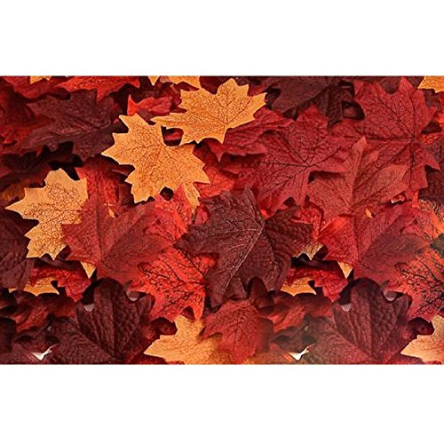 Biowow 120pcs Artificial Maple Leaves Fall Leaf Event Decoration Wedding Flowers Party Favor Random Color Fall Leaves Craft