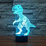 3D Lamp LED night light Touch Table Desk Dinosaur Lamp 7 Colors 3D Optical Illusion Lights Valentine's Day present