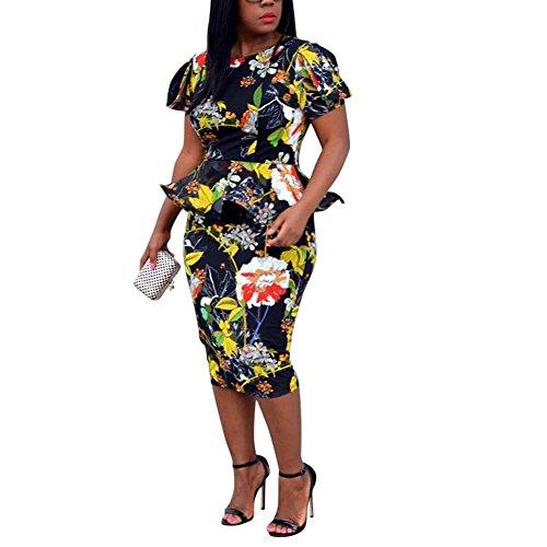 Peplum Skirt Dress (Two Piece Outfits for Women Skirts Bodycon 2017 XL)