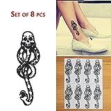 COKOHAPPY 8 Pcs Magic Death Eaters Dark Mark Mamba Snake Temporary Tattoo for Harry Potter Costume Party