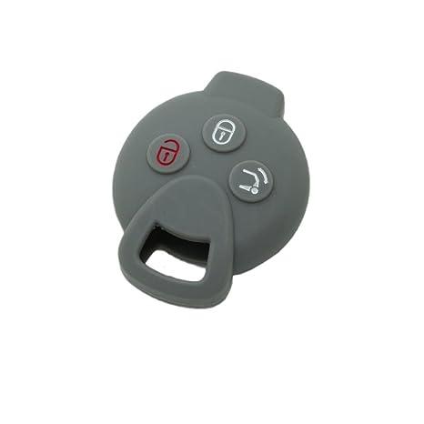 Carcasa de silicona Fassport para llave a distancia. Con 3 botones para Mercedes Benz Smart Fortwo, modelo CV9900.